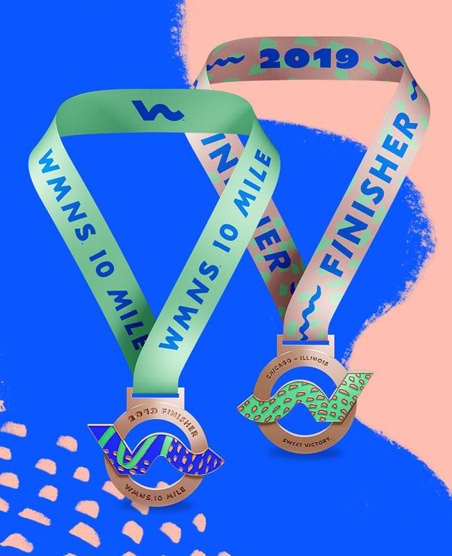 Wmns Chicago 10 Mile Medal