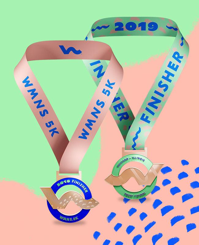 Wmns Chicago 5 K Medal